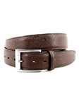 Brown Italian Basketball Grain Embossed Calfskin Belt | Torino Leather Belts | Sam's Tailoring Fine Men Clothing