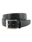 Black Italian Basketball Grain Embossed Calfskin Belt | Torino Leather Belts | Sam's Tailoring Fine Men Clothing