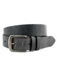 Charcoal Distressed Waxed Harness Leather Belt | Torino Leather Belts | Sam's Tailoring Fine Men Clothing
