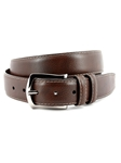 Brown Contrast Stitched Italian Soft Calfskin Belt | Torino Leather Belts | Sam's Tailoring Fine Men Clothing