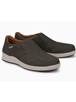 Graphite Nubuck Leather Lining Slip On Shoes | Mephisto Loafers Collection | Sam's Tailoring Fine Men Clothing