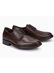 Dark Brown Smooth Leather Classic Oxford Shoe | Mephisto Shoes | Sam's Tailoring Fine Men Clothing