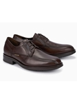 Dark Brown Smooth Leather Oxford Men's Shoe | Mephisto Shoes | Sam's Tailoring Fine Men Clothing