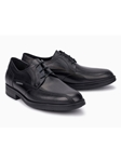 Black Smooth Leather Classic Oxford Men's Shoe | Mephisto Shoes | Sam's Tailoring Fine Men Clothing