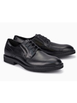 Black Smooth Leather Lining Classic Oxford Shoe | Mephisto Shoes | Sam's Tailoring Fine Men Clothing