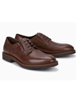 Brown Smooth Leather Lining Classic Oxford Shoe | Mephisto Shoes | Sam's Tailoring Fine Men Clothing