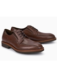 Brown Frame Stitched Smooth Leather Oxford Shoe | Mephisto Shoes | Sam's Tailoring Fine Men Clothing