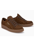 Brown Suede Inner Lining Men's Lace Up Shoe | Mephisto Shoes | Sam's Tailoring Fine Men Clothing