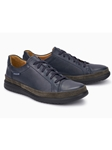 Navy Suede Smooth Leather Modern Men's Sneaker | Mephisto Causal Shoes | Sam's Tailoring Fine Men Clothing