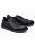 Black Suede Smooth Leather Modern Men's Sneaker | Mephisto Causal Shoes | Sam's Tailoring Fine Men Clothing