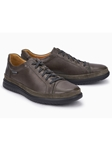 Graphite Suede Smooth Leather Modern Sneaker | Mephisto Causal Shoes | Sam's Tailoring Fine Men Clothing