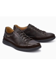 Dark Brown Smooth Leather Modern Sneaker | Mephisto Causal Shoes | Sam's Tailoring Fine Men Clothing