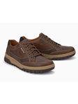 Tobacco Leather Lining Nubuck Men's Sneaker | Mephisto Causal Shoes | Sam's Tailoring Fine Men Clothing