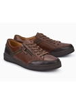 Dark Brown Smooth Leather Mobils Men's Sneaker | Mephisto Causal Shoes | Sam's Tailoring Fine Men Clothing