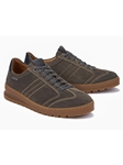 Dark Grey Suede Smooth Leather Lining Men Sneaker | Mephisto Causal Shoes | Sam's Tailoring Fine Men Clothing