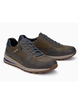 Dark Grey Textile/Leather Lining Handmade Sneaker | Mephisto Causal Shoes | Sam's Tailoring Fine Men Clothing