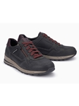 Anthracite Textile/Leather Lining Handmade Sneaker | Mephisto Causal Shoes | Sam's Tailoring Fine Men Clothing