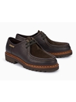 Dark Brown Leather Lining Men Lace Up Shoe | Mephisto Causal Shoes | Sam's Tailoring Fine Men Clothing