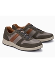 Taupe Textile/Leather Lining Men's Sneaker Shoe | Mephisto Shoes | Sam's Tailoring Fine Men Clothing