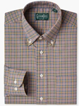 Multi Colored Tattersall Check Button Down Sport Shirt | Gitman Sport Shirts | Sam's Tailoring Fine Men Clothing