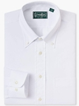 White Natural Stretch Button Down Sport Shirt | Gitman Sport Shirts | Sam's Tailoring Fine Men Clothing