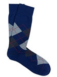 Royal Blue Pima Cotton Argyle Sock | Marcoliani Socks Collection | Sam's Tailoring Fine Men's Clothing