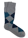 Grey/Blue Pima Cotton Argyle Sock | Marcoliani Socks Collection | Sam's Tailoring Fine Men's Clothing