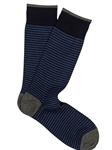 Royal Blue Pima Cotton Palio Stripe Sock | Marcoliani Socks Collection | Sam's Tailoring Fine Men's Clothing