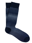 Stormy Blue Shaded Basket Print Sock | Marcoliani Socks Collection | Sam's Tailoring Fine Men's Clothing