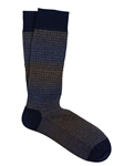 Autumn Brown Shaded Basket Print Sock | Marcoliani Socks Collection | Sam's Tailoring Fine Men's Clothing