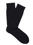 Charcoal Extra Fine Merino Pin Sock | Marcoliani Socks Collection | Sam's Tailoring Fine Men's Clothing