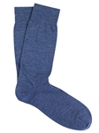 Light Blue Extra Fine Merino Pin Sock | Marcoliani Socks Collection | Sam's Tailoring Fine Men's Clothing