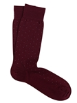 Bordeaux Extra Fine Merino Pin Sock | Marcoliani Socks Collection | Sam's Tailoring Fine Men's Clothing