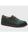 Pine Green Suede With Brown Sole Women Shoe | Samuel Hubbard Women Shoes | Sam's Tailoring Fine Men Clothing