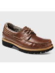 Redwood Leather With Black Sole Men Shoe | Samuel Hubbard Shoes | Sam's Tailoring Fine Men Clothing