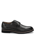 Black Travis Genuine Calf Leather Shoe | Belvedere Shoes Collection | Sam's Tailoring Fine Mens Clothing
