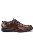 Whiskey Newport Double Monk Strap Shoe | Belvedere Shoes Collection | Sam's Tailoring Fine Mens Clothing