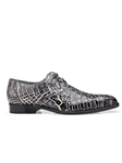 Black Rust Alfred Alligator Derby Dress Shoe | Belvedere Shoes Collection | Sam's Tailoring Fine Mens Clothing