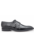 Black Batta Ostrich Cap-Toed Derby Dress Shoe | Belvedere Shoes Collection | Sam's Tailoring Fine Mens Clothing