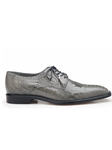 Gray Batta Ostrich Cap-Toed Derby Dress Shoe | Belvedere Shoes Collection | Sam's Tailoring Fine Mens Clothing
