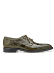 Olive Batta Ostrich Cap-Toed Derby Dress Shoe | Belvedere Shoes Collection | Sam's Tailoring Fine Mens Clothing