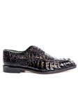 Black Chapo Caiman Crocodilus Men Dress Shoe | Belvedere Shoes Collection | Sam's Tailoring Fine Mens Clothing