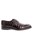 Brown Chapo Caiman Crocodilus Men Dress Shoe | Belvedere Shoes Collection | Sam's Tailoring Fine Mens Clothing