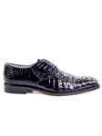 Navy Chapo Caiman Crocodilus Men Dress Shoe | Belvedere Shoes Collection | Sam's Tailoring Fine Mens Clothing
