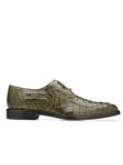 Olive Chapo Caiman Crocodilus Men Dress Shoe | Belvedere Shoes Collection | Sam's Tailoring Fine Mens Clothing