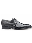 Black Isola Genuine Ostrich Classic Dress Shoe | Belvedere Shoes Collection | Sam's Tailoring Fine Mens Clothing