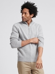 Cement Wool Cashmere Quarterzip Sweater | Naadam Quarter Zip | Sam's Tailoring Fine Men's Clothing