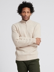 Oatmeal Wool Cashmere Quarterzip Sweater | Naadam Quarter Zip | Sam's Tailoring Fine Men's Clothing