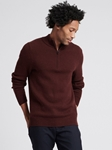 Plum Wool Cashmere Quarterzip Sweater | Naadam Quarter Zip | Sam's Tailoring Fine Men's Clothing