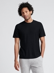 Black Silk Cashmere Contour Men T Shirt | Naadam Men Henleys & Tees | Sam's Tailoring Fine Men's Clothing